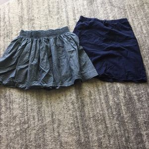 Lot of (2) Banana Republic skirts.